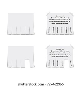 Detachable paper advertisement template, vector illustration