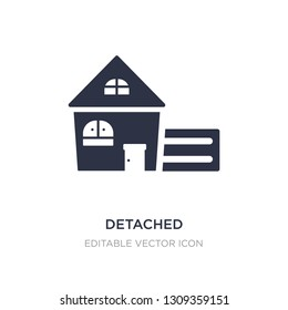 detached icon on white background. Simple element illustration from Buildings concept. detached icon symbol design.