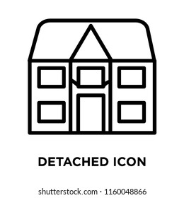 Detached icon vector isolated on white background, Detached transparent sign , line or linear sign, element design in outline style