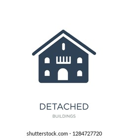 detached icon vector on white background, detached trendy filled icons from Buildings collection, detached vector illustration