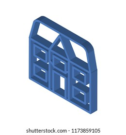 Detached isometric left top view 3D icon