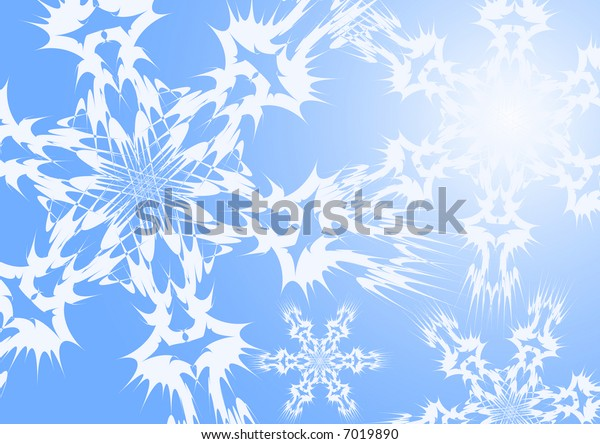 Detail of christmas snowflakes - illustration, vector