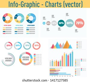 Detail info graphic vector illustration. Information Graphics charts and diagram elements.
