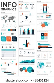 Detail infographic collection vector illustration. Information Graphics