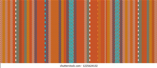 detail seamless background with mexican color. texture pattern for continuous replicate. mexican rug pattern. serape stripes vector
