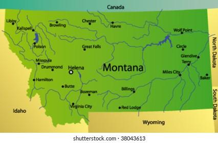 Montana Map Images Stock Photos Vectors Shutterstock