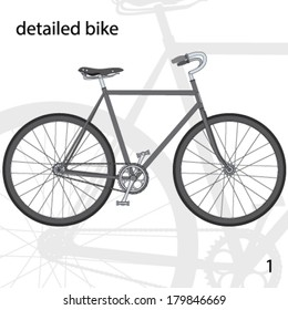 detailed bike for a different design and decoration