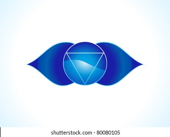 detailed brow chakra vector illustration