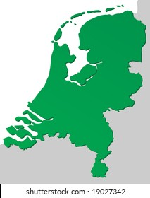Detailed chart of the Netherlands, Holland