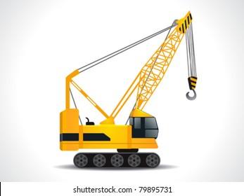 detailed crane vector illustration