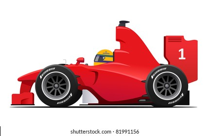 DETAILED Formula 1 Red Race Car