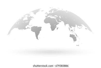 World map globe images stock photos vectors shutterstock detailed grey world map mapped on an open globe isolated on white background publicscrutiny Choice Image