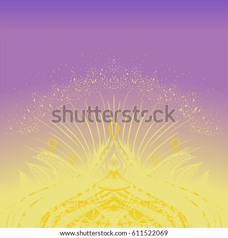 Detailed Hand Drawn Background Wedding Invitations Stock Vector