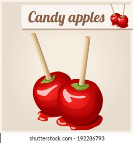 Detailed Icon. Candy apples.
