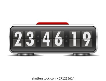 detailed illustration of an alarm clock, eps10 vector
