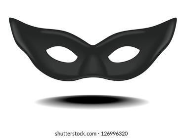 detailed illustration of a black carnivals mask, eps 10