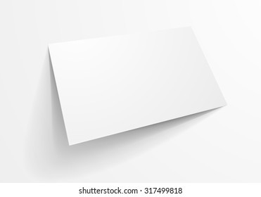 detailed illustration of a blank business card template, eps10 vector