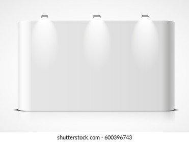 detailed illustration of a blank exhibition wall, eps10 vector