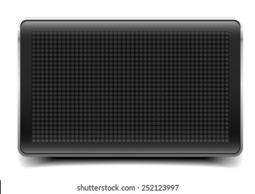 detailed illustration of a blank LED Panel, eps10 vector
