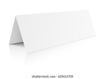 detailed illustration of a blank table paper card template, eps10 vector