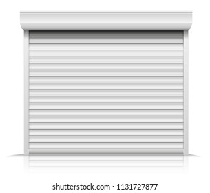 detailed illustration of a closed shutter door, eps10 vector