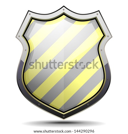 Detailed Illustration Coat Arms Yellow Black Stock Vector Royalty