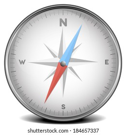 detailed illustration of a compass, eps10 vector