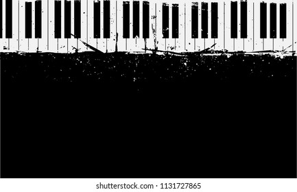 detailed illustration of grunge piano background, eps10 vector