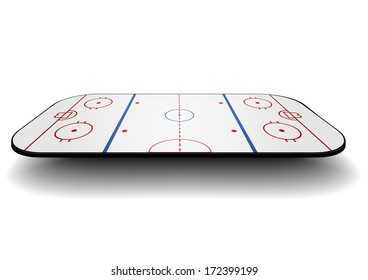 detailed illustration of an icehockey court with perspective, eps10 vector