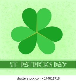 detailed illustration of a retro style St. Patricks Day Card
