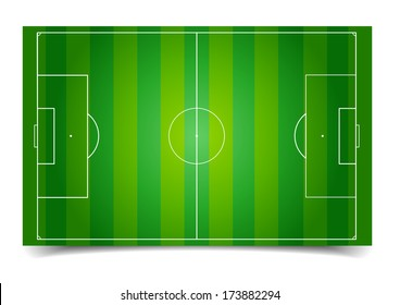 detailed illustration of a soccer field, eps10 vector
