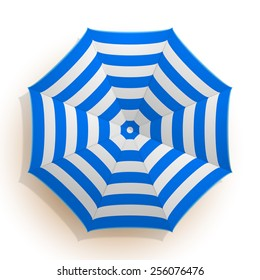 detailed illustration of an umbrella seen from above, eps10 vector