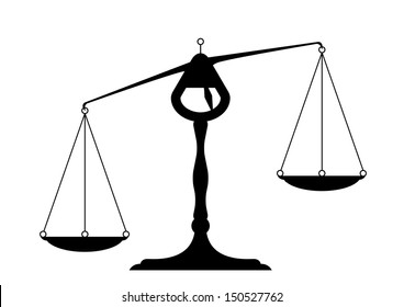 detailed illustration of an unbalanced balance