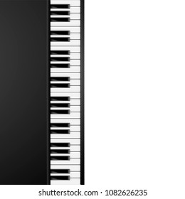 detailed illustration of a vertical aligned piano keys background, eps10 vector