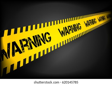 detailed illustration of a Warning lines background, eps10 vector