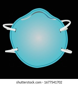 Detailed illustration/vector of Safety, Industrial, Surgical, N95, Smoke and Dust Protection, Respirator and Breathing Mask.