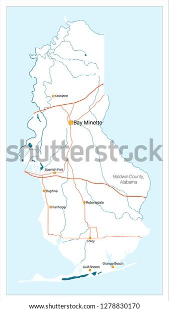 Detailed Large Map Baldwin County Alabama Stock Vector ... on dekalb county, baker county alabama map, madison county, nashville alabama map, houston county, pine grove alabama map, jefferson county, daphne alabama map, macon alabama map, autauga county alabama map, city of cullman alabama map, morgan county, spanish fort, gulf shores, escambia county, north alabama county map, orange beach, gulf shores alabama map, monroe county, black warrior river alabama map, montgomery county, barbour county alabama map, washington county, calhoun county, mobile county, st. augustine alabama map, baldwin beach express map, shelby county, silverhill alabama map, cook county alabama map, stockton alabama map, walton county alabama map, gulf state park alabama map, south carolina alabama map, perdido alabama map, butler county,