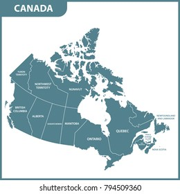 Map Of Canada And The States.Canada Map Images Stock Photos Vectors Shutterstock