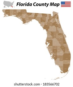 Florida Map With Counties.Okeechobee Vector Images Stock Photos Vectors Shutterstock
