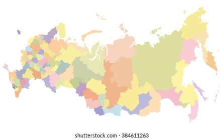 Detailed map of Russia, with regions