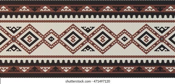Detailed Maroon Traditional Folk Sadu Arabian Hand Weaving Pattern