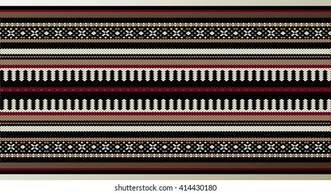 A Detailed Middle Eastern Traditional Carpet Fabric Texture
