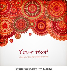 Detailed ornament background for bright design, vector
