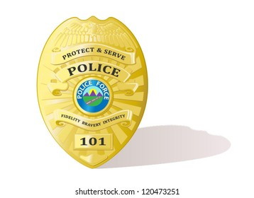 Detailed Police badge vector
