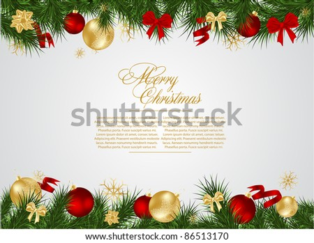 Detailed Realistic Christmas Frame Stock Vector (Royalty Free ...