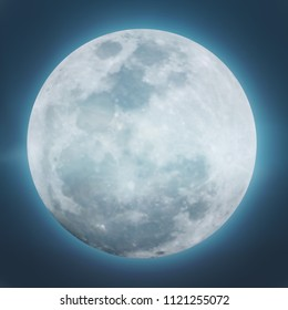 Detailed of Realistic full moon. vector illustration.