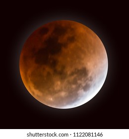 Detailed of Realistic red blood full moon. vector illustration.