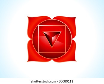detailed root chakra vector illustration