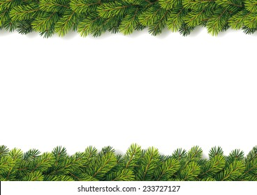 Detailed Seamless Christmas Garland