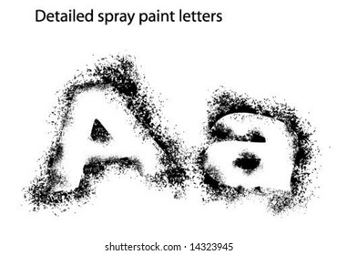 Detailed Spray Paint Font Aa
